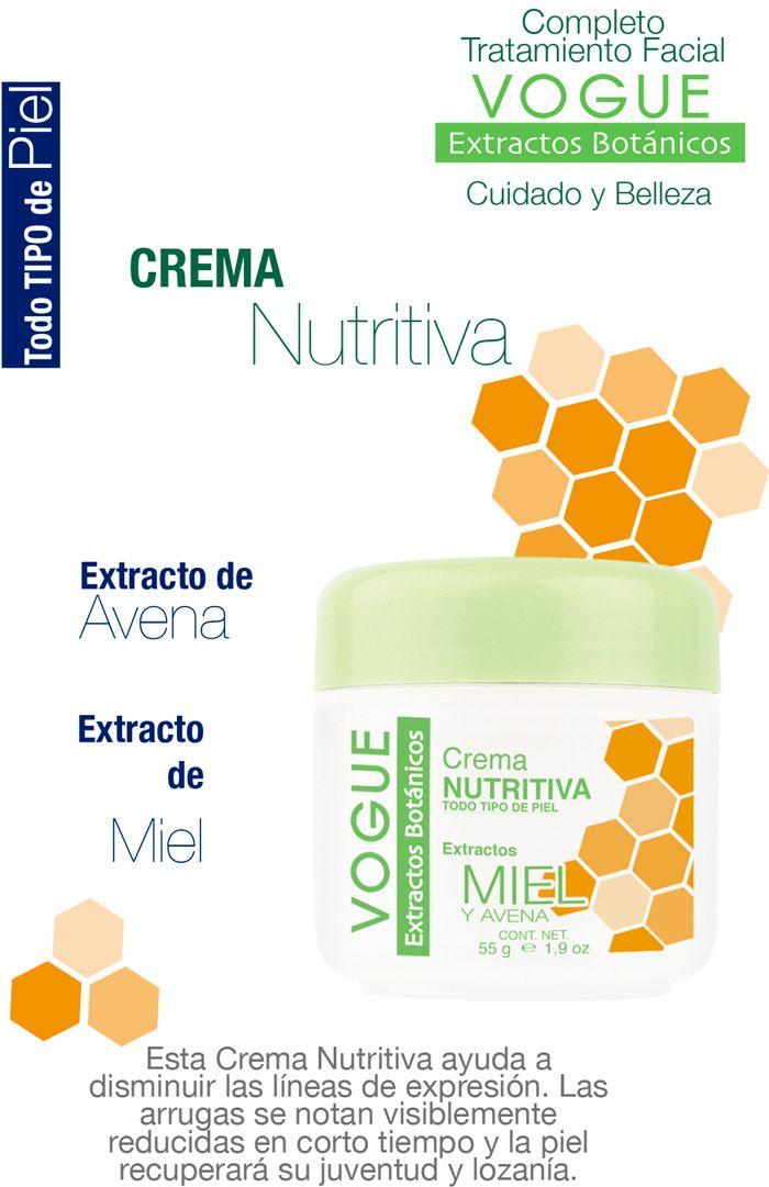 Crema Nutritiva con Extrato de Miel y Avena de Extractos Botánicos