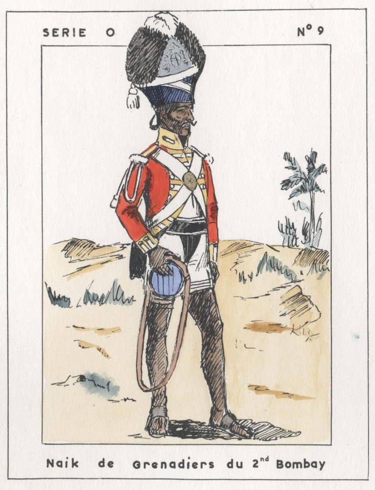 British; 2nd Bombay Native Infantry, Grenadier Naik, Egypt, 1801