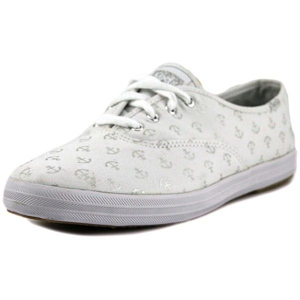 Keds Keds Ch Anchors Round Toe Canvas Sneakers | Bluefly.Com (7.590 HUF) ❤ liked on Polyvore featuring shoes, sneakers, white, canvas shoes, canvas sneakers, canvas trainers, canvas sneakers shoes and anchor shoes