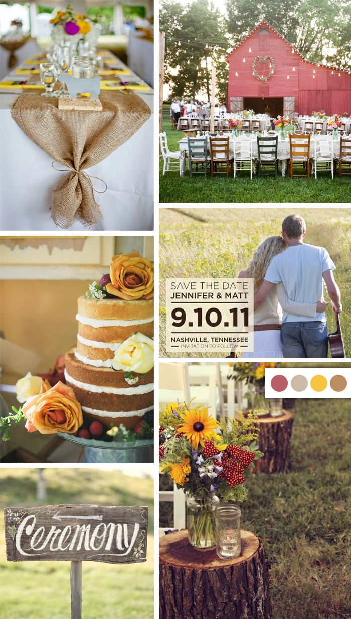 Farm Style Wedding + Color Palette, This would have been my dream wedding. Wish I would have done this.