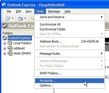 Want to Access You Gmail in Outlook Express?  Here's How with IMAP: Make sure IMAP access is enabled in Gmail