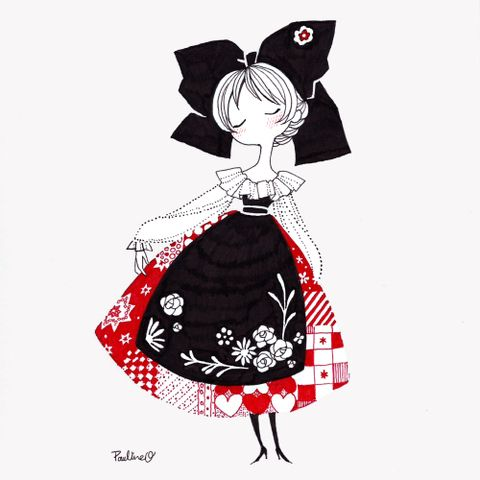 「アルザスの女の子」/「ポリン」のイラスト [pixiv]