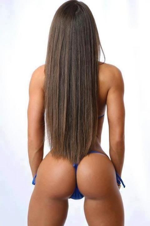 Perfect brunette ass