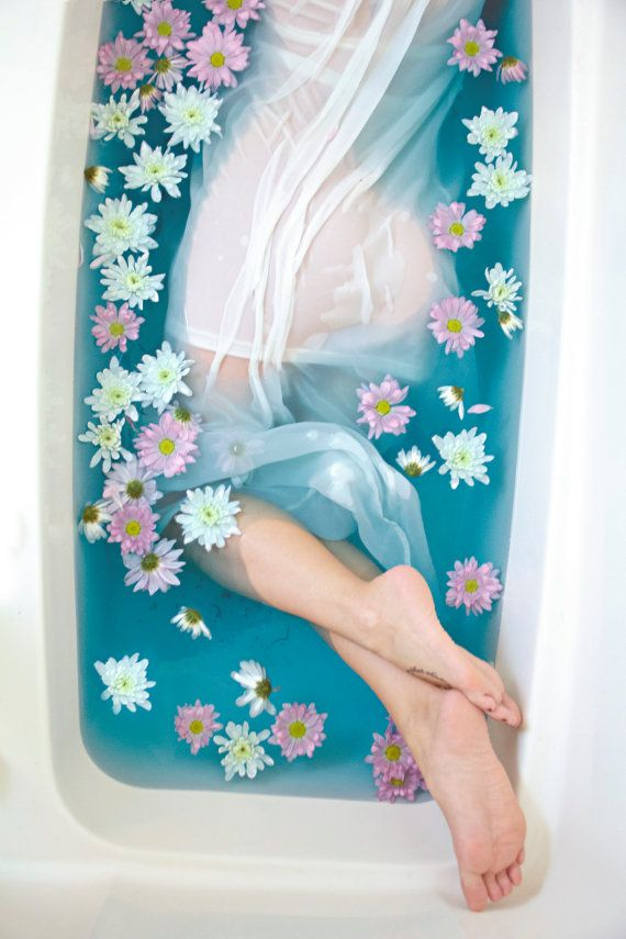 Prints for Sale on Etsy of my Lush Big Blue Lush Bath Bomb photoshoot with Pom Daisies. Great digital photography print for the bathroom. Photo by Christian Zajicek Photography for PrintsByPapa