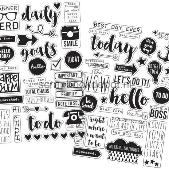 Simple Stories Carpe Diem - Clear Stickers 4x6inch 4/pkg