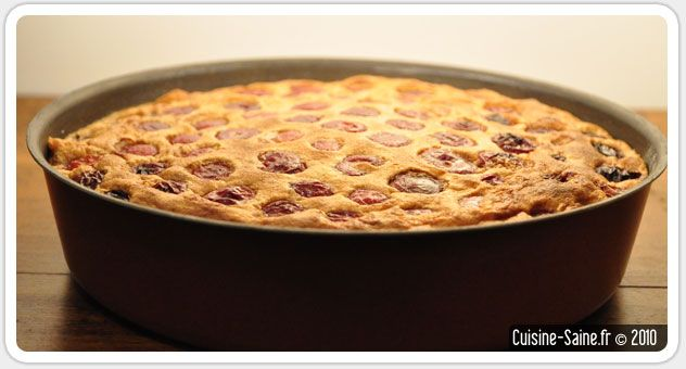 Recette sans gluten : clafoutis aux cerises sans gluten ni lait