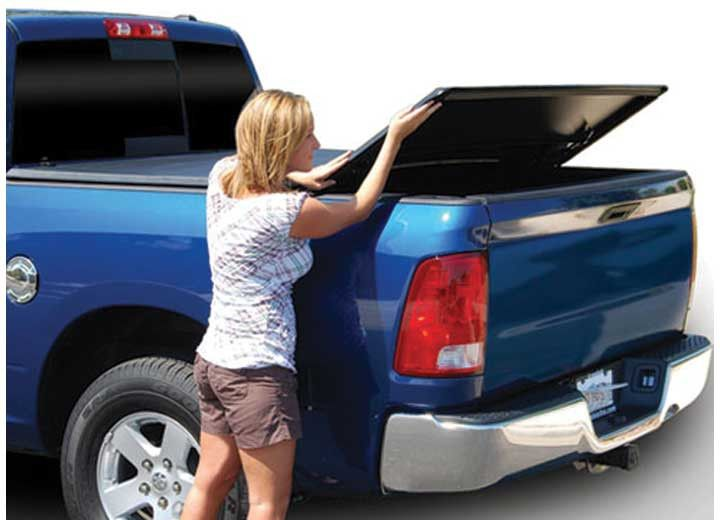 TONNO PRO TONNEAU BED COVER FITS 2005-2015 TOYOTA TACOMA DOUBLE CAB 5FT (W/UTILITY TRACK) TRIFOLD COVER