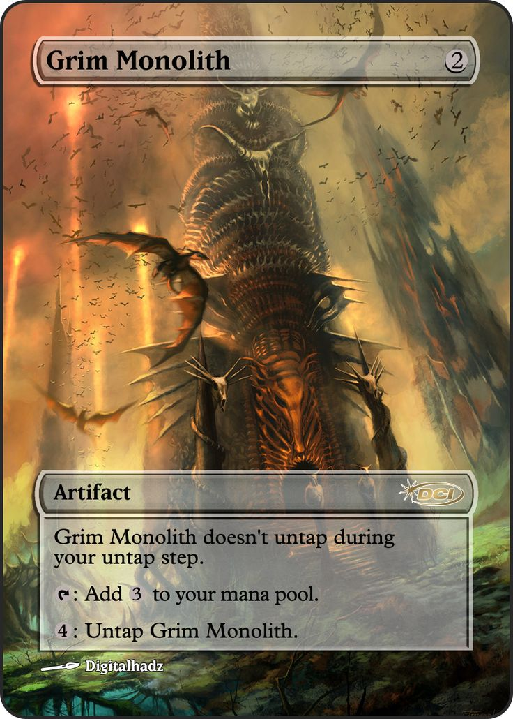 Magic The Gathering Grim Monolith Proxy
