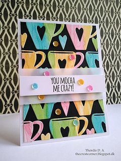 Love this card by Thordis, using Simon's Coffee Cup die!