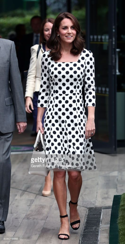 The Duchess of Cambridge, Patron of the All England Lawn Tennis and Croquet Club (AELTC) on day one of the Wimbledon Championships at The All England Lawn Tennis and Croquet Club, Wimbledon.