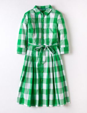 Gingham Shirt Dress: Grassi Green, Shirtdress, Dresses Boden, Gingham Shirts, Green Gingham, Boden Gingham, Day Dresses, Shirts Dresses, Dreams Dresses