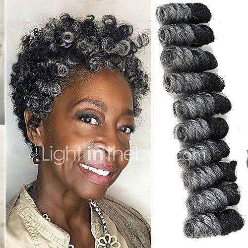Crochet Bouncy Curl Twist Braids Hair Extensions Kanekalon Hair Braids 2017 - $7.6