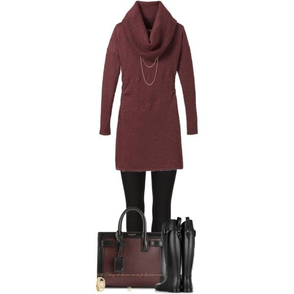 A fashion look from October 2014 featuring Athleta dresses, AllSaints leggings and Burberry boots. Browse and shop related looks.