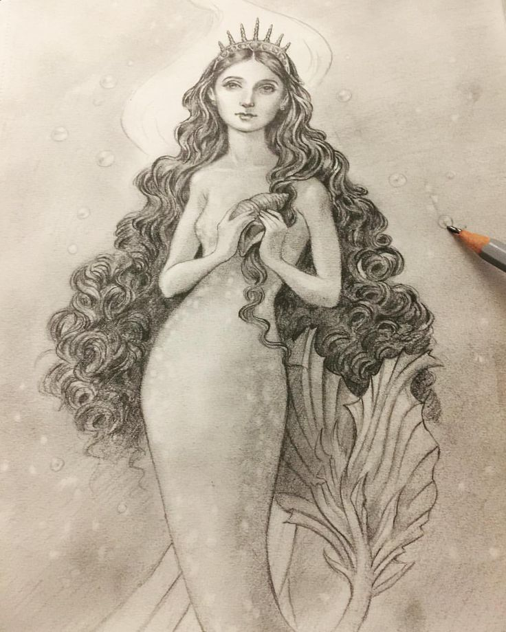 """Eeva Nikunen (@eevanikunen) on Instagram: """"Today's sketch is the Little Mermaid 🐚🐬. I've seen a lot of artists post amazing drawings for…"""""""