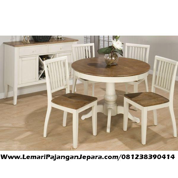 Jual Set Kursi Makan Meja Bundar Set Kursi Makan Meja Bundar merupakan Tempat Meja Makan Untuk Keluarga anda yang di produksi asli dari Jepara dengan design