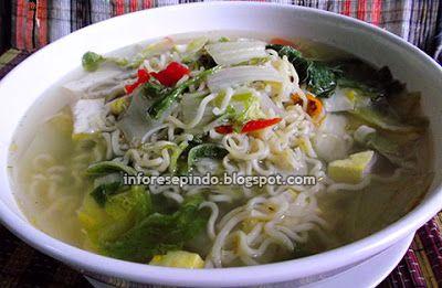 Sayur Mie Instan Sederhana - Resep Masakan Indonesia