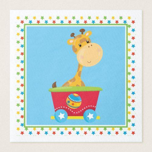 Giraffe | Circus Train Paper Dinner Napkin