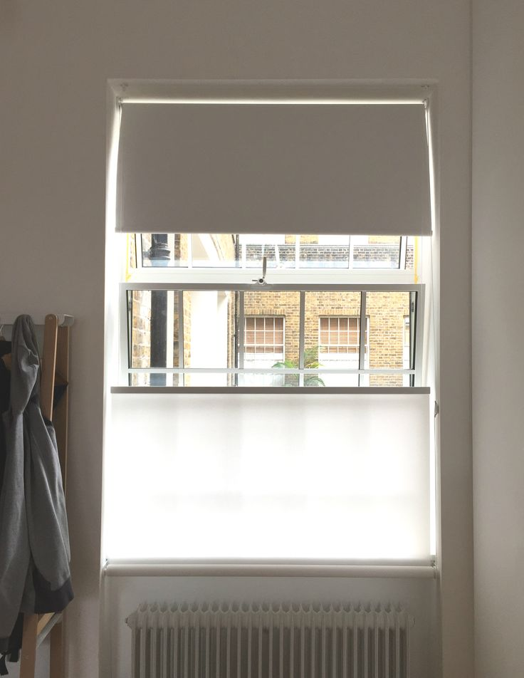 bottom up roller blinds and blackout roller blinds installed to large windows kentish town