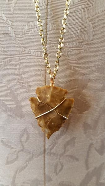 Necklace - Gold Chain Arrowhead Necklace By Stone And Bone