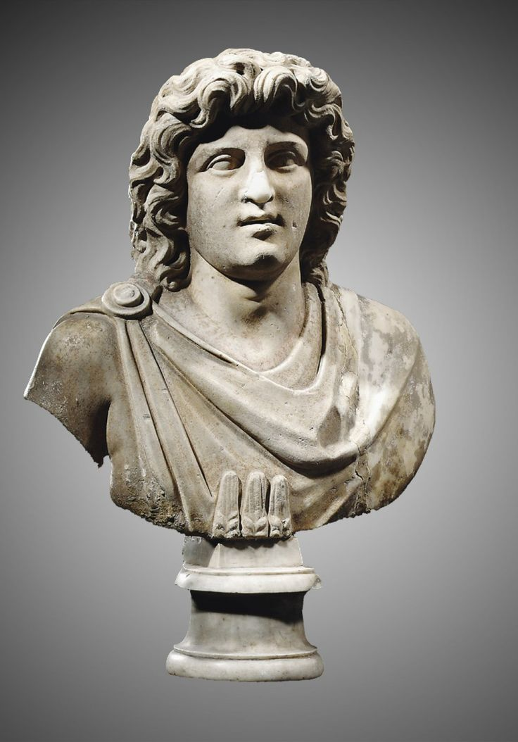 Marble bust of Alexander the Great Roman 1st century AD