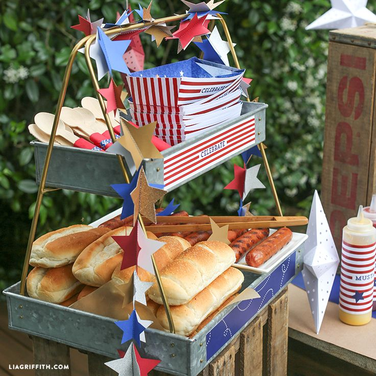 Hot Dog Bar for 4th of July