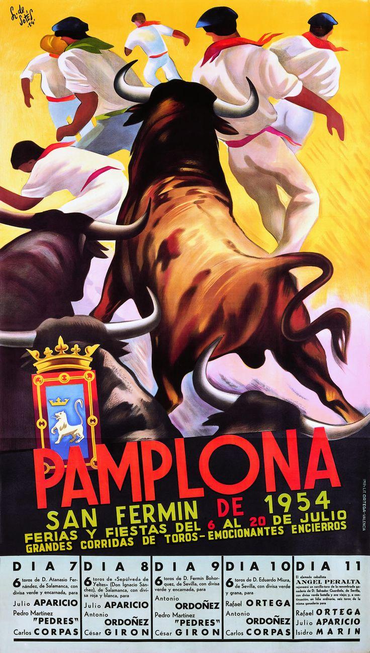 San Fermín 1954 Pedro Lozano de Sotés ~Repinned Via Blanca Garrido