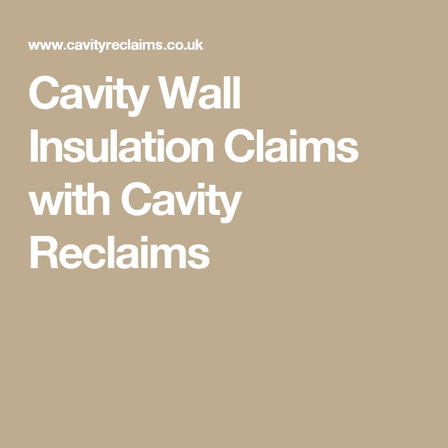 Cavity Wall Insulation Claims with Cavity Reclaims