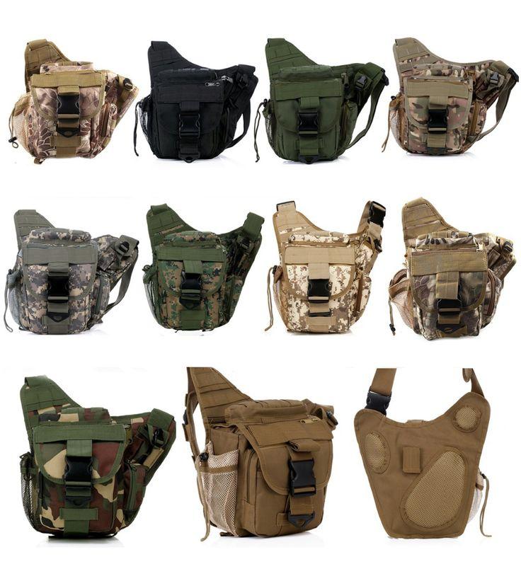 TacticalUtility Shoulder Backpack Saddle Bag Outdoor Sport  Molle Travel Bag Camera Pouch Ver Climbing Bags Hiking Bag