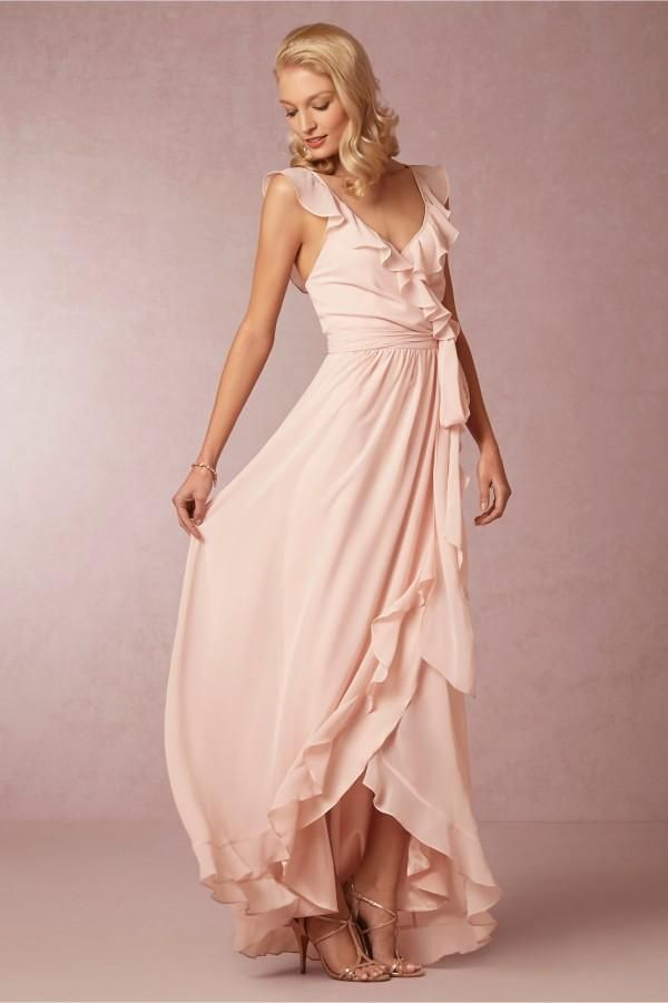 Petite Bridesmaid Dresses Bhldn Bridesmaid Dresses Deep V Neck Sleeveless Ruffles Ribbon Floor Length Women Clothes A Line Chiffon Backless Bridesmaid Gowns B2 Bridesmaid Dresses From Orient2012, $73.01| Dhgate.Com