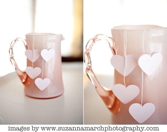 DIY heart teabag wedding favors