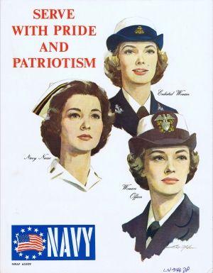 Pride Patriotism Navy USA, 1960er Jahre – Original Vintage Poster von Louis Nolan …