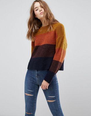New Look Block Stripe Knit Jumper