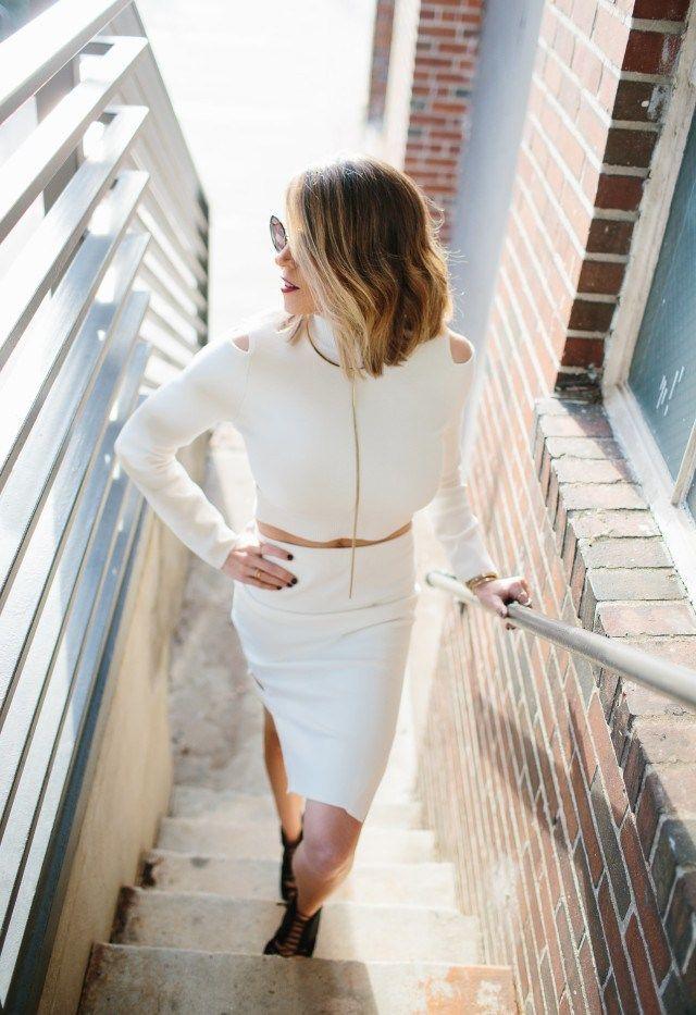 winter white + pencil skirt | #lifelutzurious