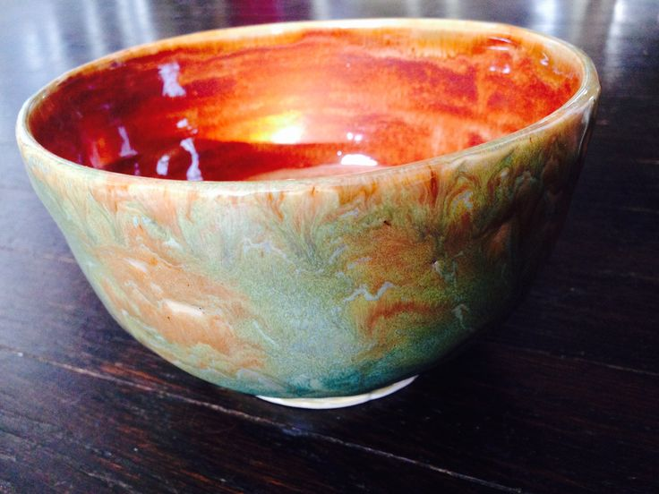 Amaco albany slip brown over lustrous jade #pottery#amaco