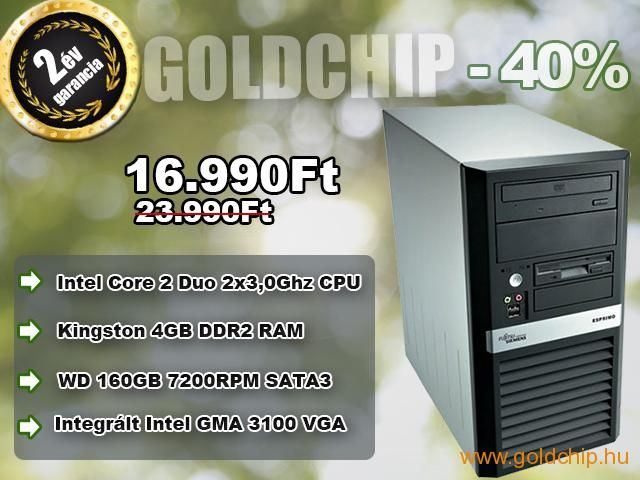Fujitsu Core 2 Duo 2x3,0Ghz CPU - 4GB DDR2 RAM PC  http://www.goldchip.hu/Fujitsu-Core-2-Duo-2x3-0Ghz-CPU-4GB-DDR2-RAM-PC-d30934.htm