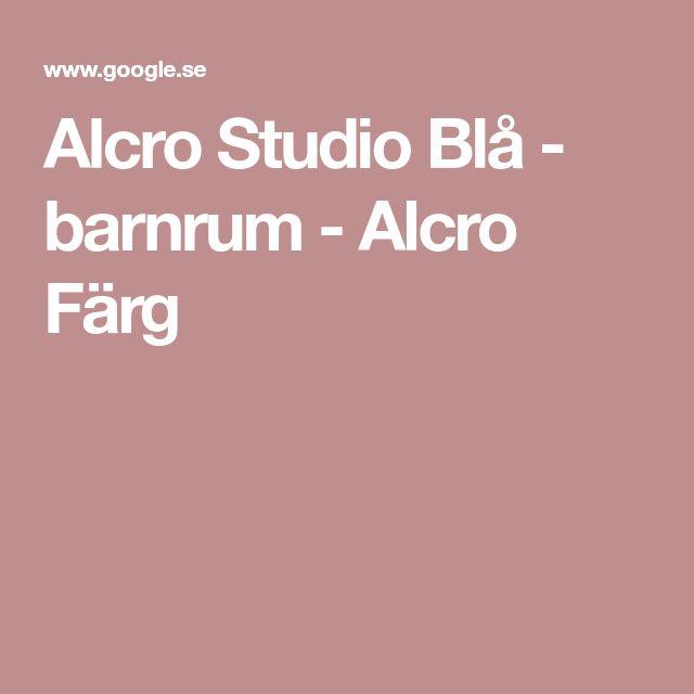 Alcro Studio Blå - barnrum - Alcro Färg