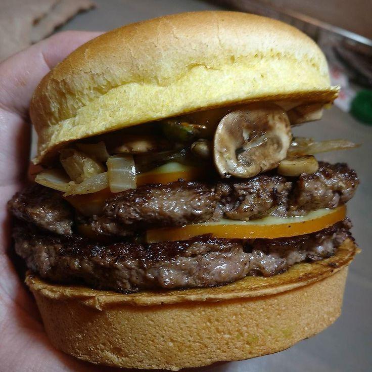 Serious @burgerboss stack! #burgers #organic