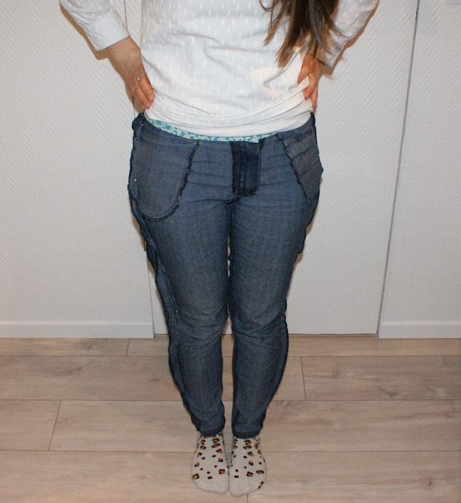 Tuto retoucher un jean : reprendre au milieu dos et aux côtés