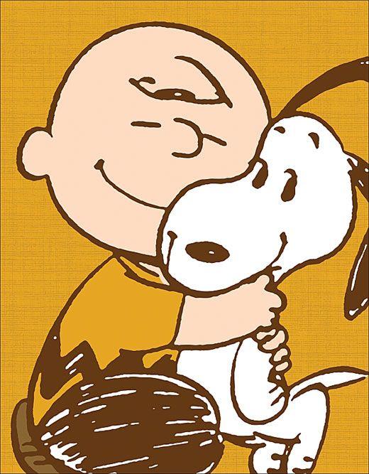 La felicità è accarezzare un cucciolo caldo caldo, è stare a letto mentre fuori piove, è passeggiare sull'erba a piedi nudi, è il singhiozzo dopo che è passato.  (Charlie Brown)