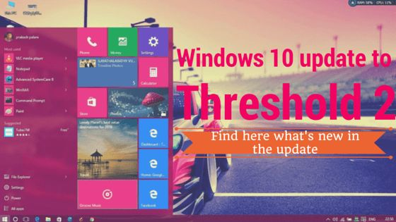 Microsoft started to roll out the much-awaited Threshold 2 update for Windows 10. The update is available with new features & improvements.