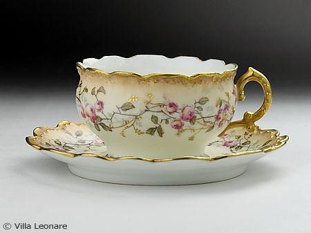 LIMOGES tea cup - Tableware shop Villa Leona Moltrasio