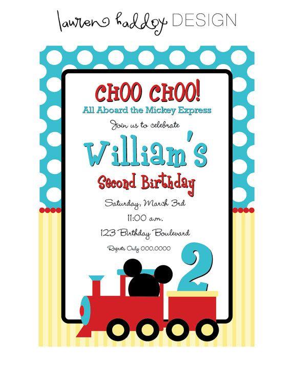 Mickey Mouse Choo Choo Express Birthday Invitation