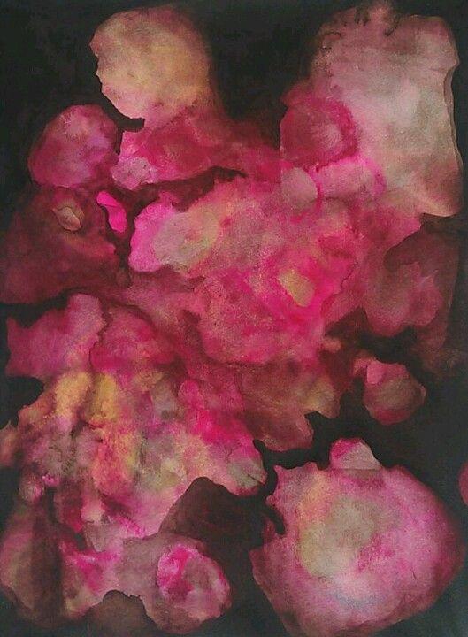 peinture abstraite : aquarelle rose d'Erin Hegg