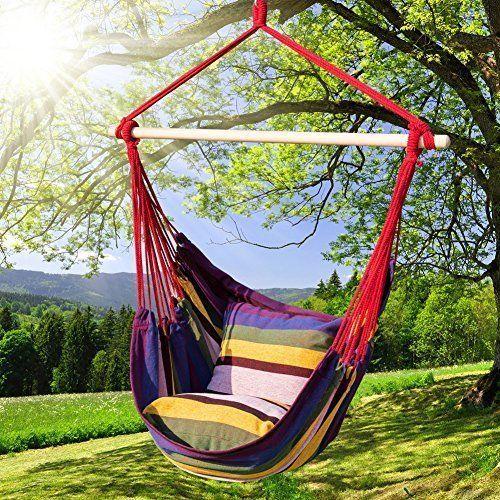 Hammock Chair Swing Durable Hanging Rope Relax Lounge Seat Indoor Outdoor Garden #HammockChairSwing