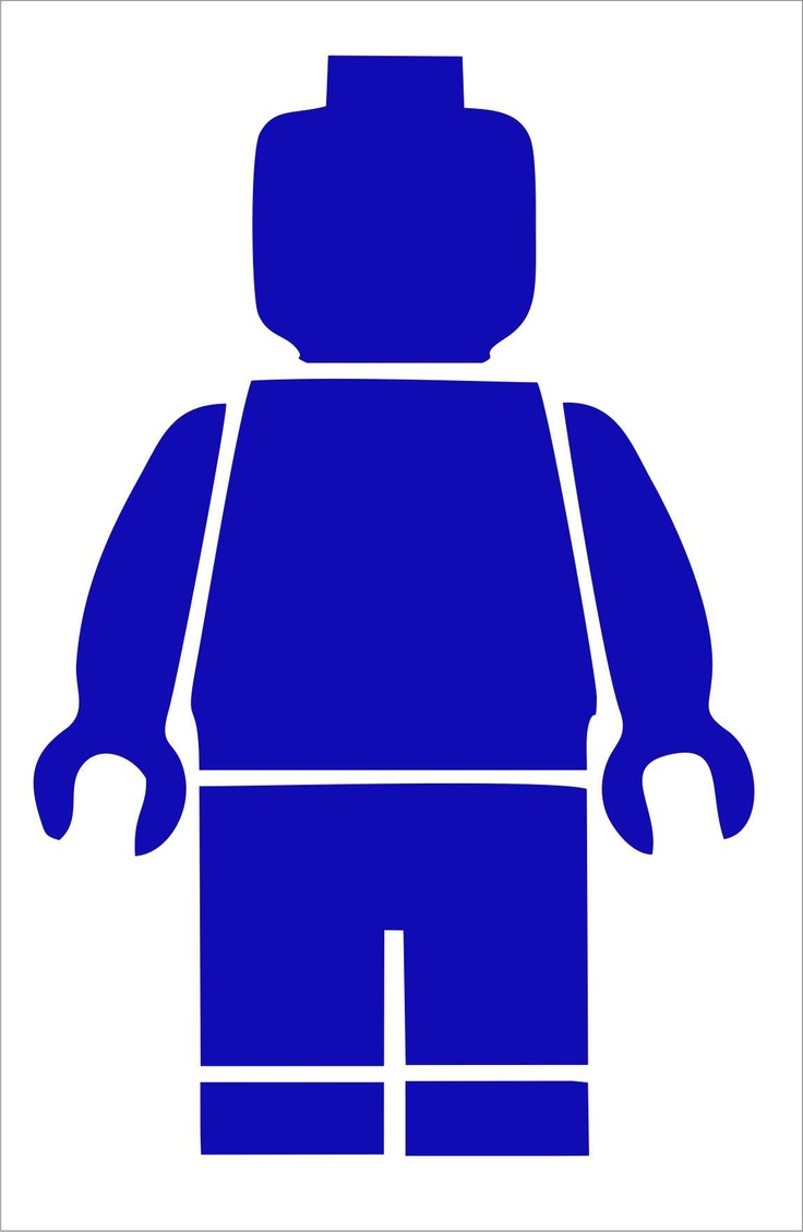 Muursticker LEGO Minifig
