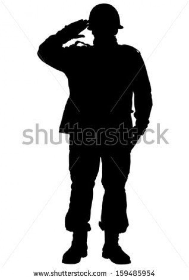 Vector Drawing Of A Soldier In Uniform With Weapon Stock Vector Soldiers Soldiers Silhouette Army Drawing Soldier Silhouette Silhouette