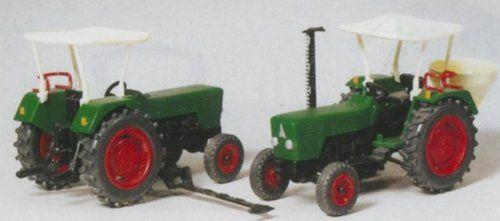 Preiser 1/87 Ème – PR17920 – Modélisme Ferroviaire – Tracteur Deutz, 2 Pièces en Kit: PREISER PR17920 – Lot de 2 tracteurs agricoles en kit…