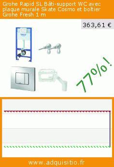 Grohe Rapid SL Bâti-support WC avec plaque murale Skate Cosmo et boîtier Grohe Fresh 1 m (Outils et accessoires). Réduction de 77%! Prix actuel 363,61 €, l'ancien prix était de 1.585,16 €. http://www.adquisitio.fr/grohe/rapid-sl-b%C3%A2ti-support-wc-1