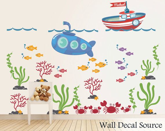 Best Ocean Wall Decals Images On Pinterest Wall Decals - Monogram wall decal for nursery