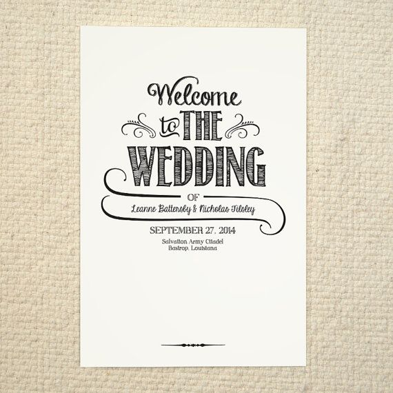 wedding program covers templates